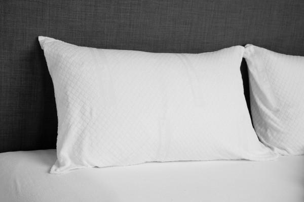 Pair of jacquard pillowcases